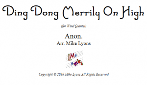 Wind Quintet – Ding Dong Merrily on High
