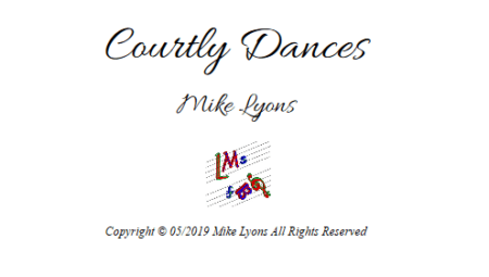 courtly dances 1