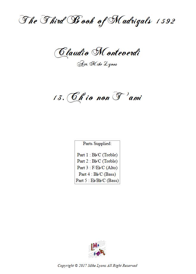 Madrigals Book 3 13