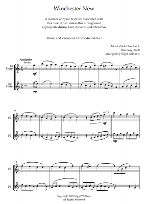 Winchester New, for Flute Duet