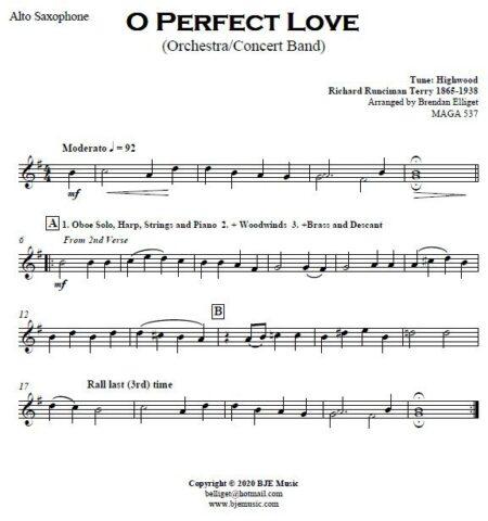499 O Perfect Love CB Orchestra SAMPLE page 004