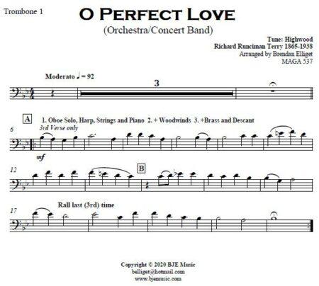 499 O Perfect Love CB Orchestra SAMPLE page 006