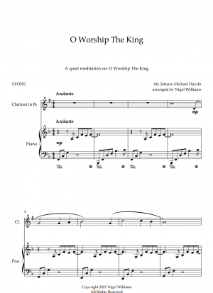 O Worship The King, for Clarinet and Piano