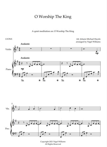 O Worship The King, for Violin and Piano
