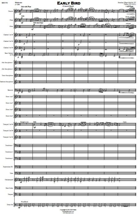 551 Early Bird Concert Band Sample page 001