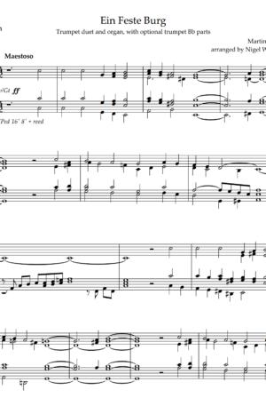 Ein Feste Burg, for Trumpet Duet and Organ