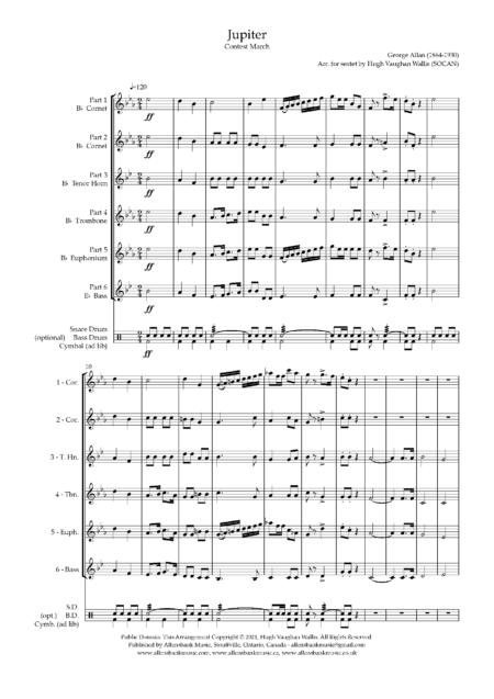 Jupiter sextet Score and parts 2