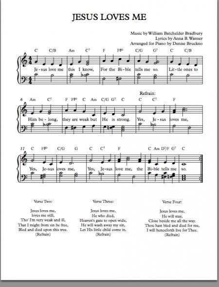 jesus Loves Me music Spt. 10 smm