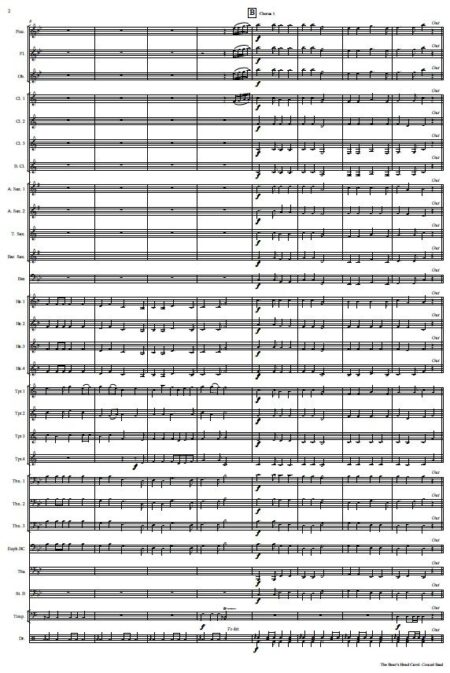 564 The Boars Head Carol Concert Band SAMPLE page 002