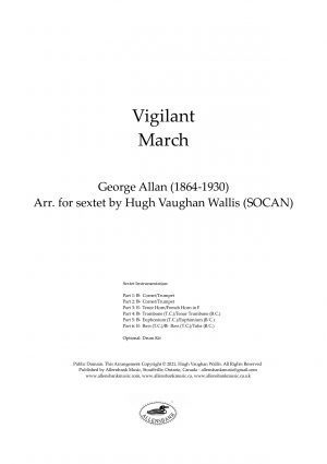 Vigilant – March by George Allan – arranged for Brass Sextet