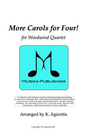 More Carols for Four – Woodwind Quartet