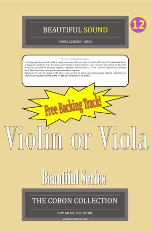 No.12 Beautiful Sound (Violin or Viola)