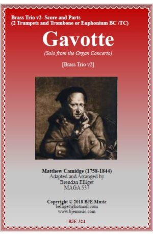 Gavotte (Solo from the Organ Concerto) – Brass Trio v2 ( 2 Trumpets and Trombone/Euphonium TC or BC)